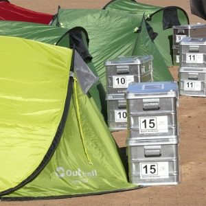Alubox.com A081 Expedition in the Intercontinental Rally - the real way to Sahara, holding tents